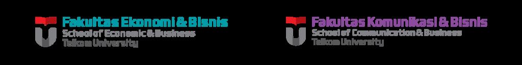 Logo Dua Fakultas Bisnis Telkom University