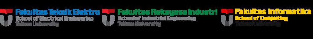 Logo Fakultas Teknik Elektro, Fakultas Rekayasa Industri dan Fakultas Informatika