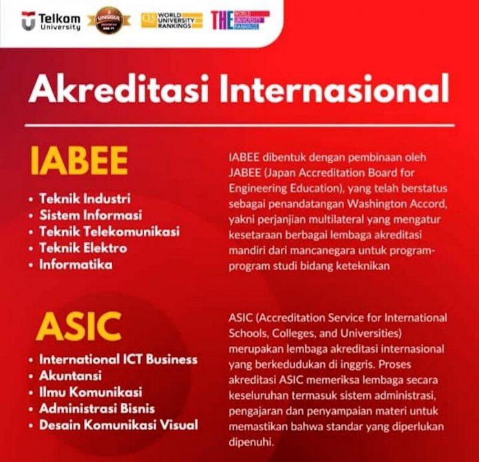 Akreditasi Internasional Program Studi di Telkom University