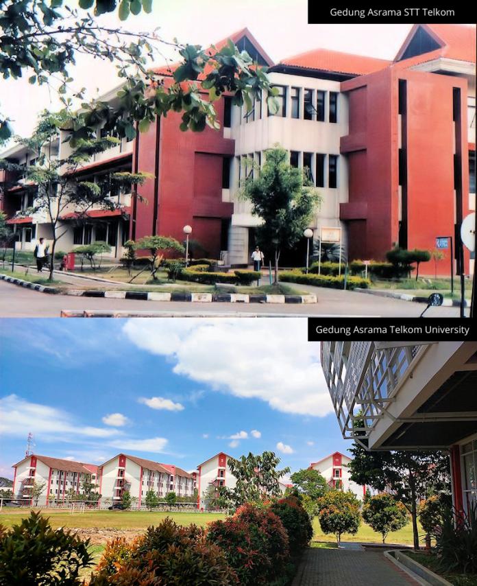 Gedung Asrama STT Telkom vs Telkom University