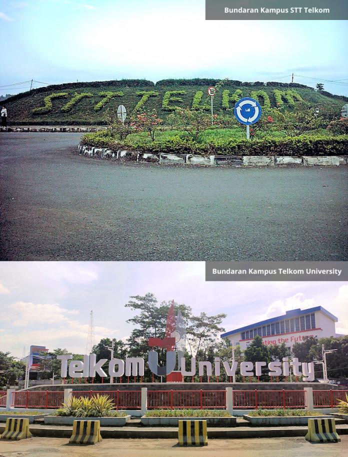 Bundaran Kampus STT Telkom vs Telkom University