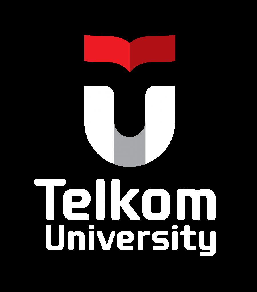 Logo Telkom University Sekunder Vertikal