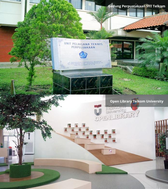 Perpustakaan STT Telkom vs Open Library Telkom University