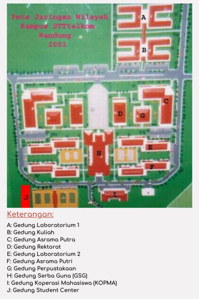 Peta Kampus STT Telkom Tahun 2002